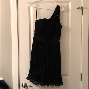 Club Monaco chiffon black dress